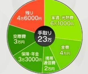 手取り23万円で食費4万円は高いのか?
