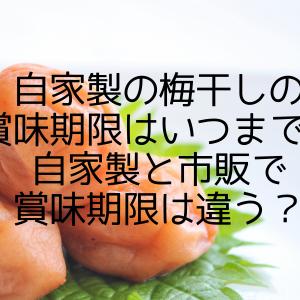自家製の梅干しの賞味期限はいつまで?自家製と市販で賞味期限は違う?