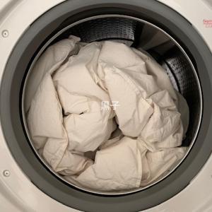 家でも洗えるのね!肌掛け羽毛布団の洗濯&乾燥で気持ちスッキリ。