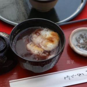 【伏見稲荷大社】四ツ辻にある茶屋「にしむら亭」でぜんざいを。