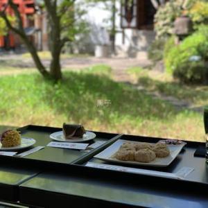 京都のカフェ【虎屋菓寮】晴天のテラス席で深呼吸!