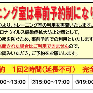 福岡市のトレーニングルーム使用制限について
