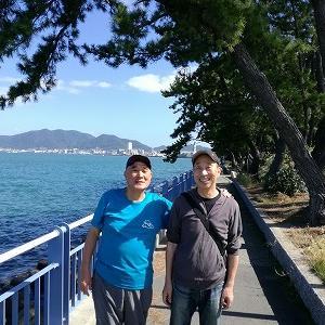 門司港まで歩き、16km