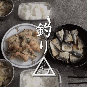サバの味噌煮と竜田揚げ!鯖づくし釣りキャンプ飯だ!! 新島釣りキャンプ第二弾【DAY5 ランチ】