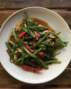 空芯菜炒め タイ料理レシピ5
