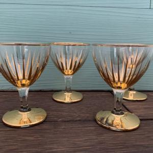 【新着商品】ゴールドリムとゴールドラインのヴィンテージグラス