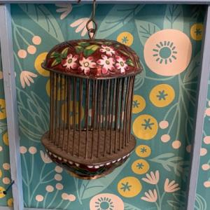 【新着商品】ツバメとハートのヴィンテージ七宝焼きの鳥籠