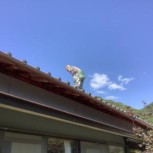 天井のシミと屋根の点検