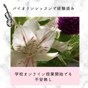 【オンライン】バイオリンのレッスンで経験済み〜学校の授業も慌てない〜