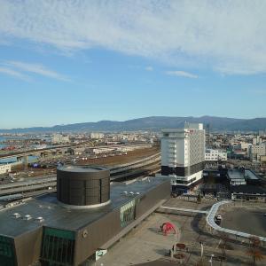 函館駅周辺ホテルの眺望とか。