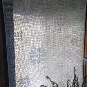 レース暖簾完成