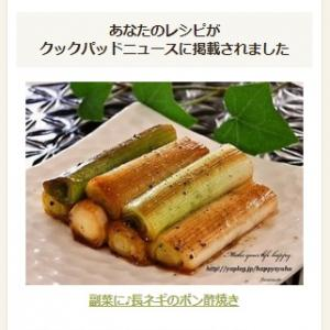 【クックパッドニュース掲載】副菜に♪長ネギのポン酢焼き
