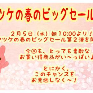 明日2月5日(水)朝10:00より!マツケの春のビッグセール第2弾を開催!