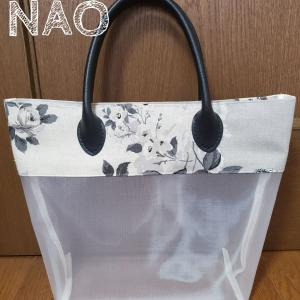 ハードチュールバッグとバッグinバッグ