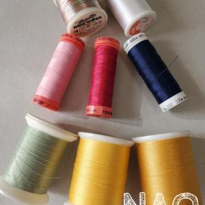 雛祭りキルト 糸と裏布