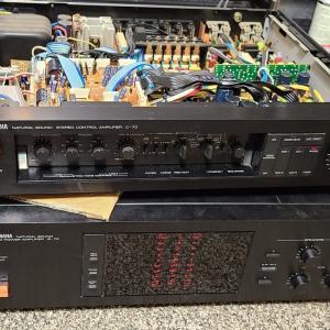 YAMAHA コントロールアンプ C-70 電解コンデンサー 交換