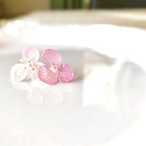 兵庫からオンラインレッスン♪ご縁がつなぐ2年越しで実現した♡紫陽花のイヤリング