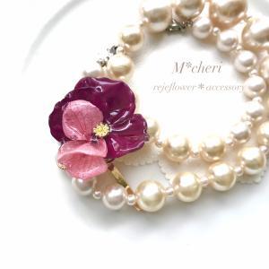 驚きの技術で作る!?キュンとくる可愛さ♥バラと紫陽花のふりふりレジンアクセサリー