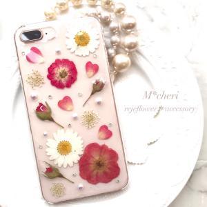 バラと共に毎日を過ごす♡見ているだ幸せ♪アンティークカラーの押し花スマホケース