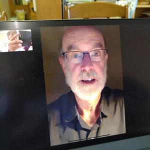 アメリカのケリー先生とテレビ電話で会話しました