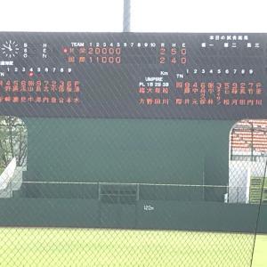 速報 野球部 5回終了 2-2