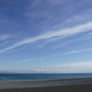 静岡県石津浜でジギングの練習