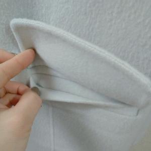 ポケットは訳あって縫ったままです