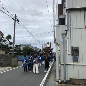 茨城県行方市 麻生の大祭 気合入れてGO!