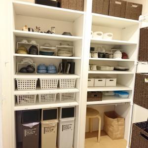 【東京の家】大容量のオープン食器棚*一目で見渡せる収納*