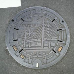 マンホール蓋 横浜市・横浜ベイブリッジ⑤(あめ)