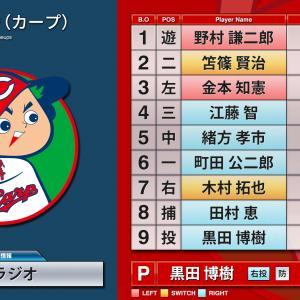 【カープ】大野豊投手引退試合のスタメン(1998年9月27日)[RCCラジオがプレイバック中継]