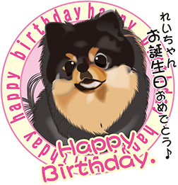 レイちゃん、お誕生日おめでとう~(-^〇^-)