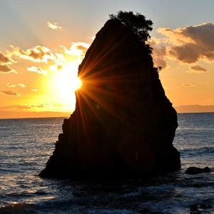 立石での日没風景(20210111)