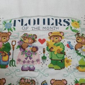 7/7 Flowers of the Month Bears進捗 状況