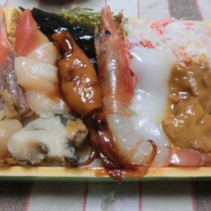 大北海道展で雑魚亭の海鮮弁当 @横浜高島屋