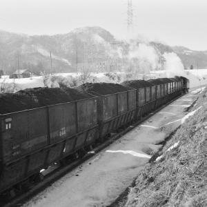 真谷地鉄道 石炭を満載した貨車を撮る