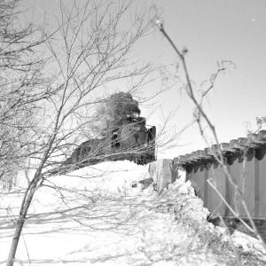 宗谷本線 D51221を士別の鉄橋下から撮る
