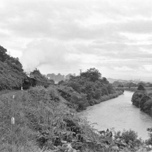 幌内線 三笠の幾春別川でD51367を撮る