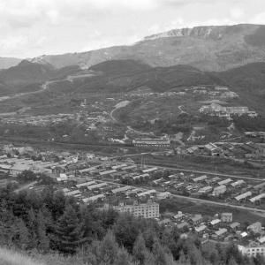 夕張鉄道 ズリ山から平和地区を俯瞰撮影(2)