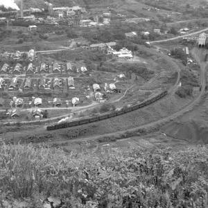 夕張鉄道 ズリ山から平和地区を俯瞰撮影(3)