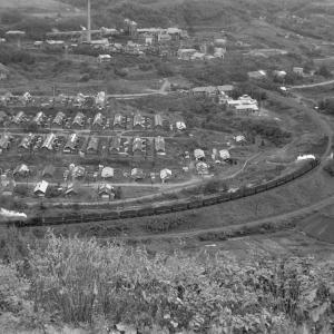 夕張鉄道 ズリ山から平和地区を俯瞰撮影(4)