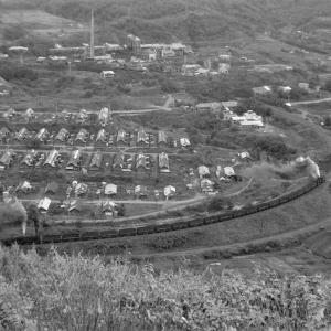 夕張鉄道 ズリ山から平和地区を俯瞰撮影(5)