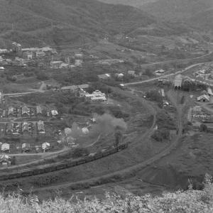 夕張鉄道 ズリ山から平和地区を俯瞰撮影(6)