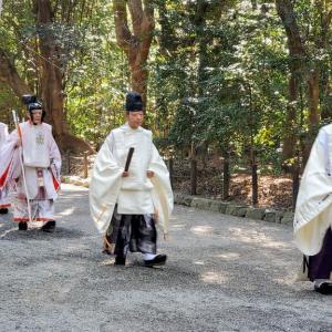 熱田神宮さんに初詣に行き、御垣内参拝させて頂いた ☆彡