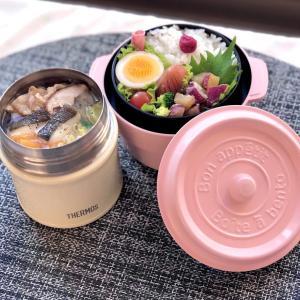 """スープジャーでタラ鍋弁当~本日はプチッと鍋の""""あさり帆立旨塩鍋""""でございます。"""