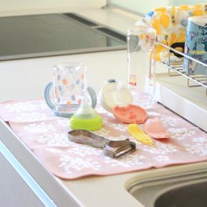 ケユカの吸水クロスマットが水切りにおすすめ!おしゃれで乾きやすくてすごくイイ!