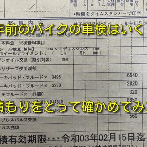 【GSX1300R 隼 (GW71A)】20年前のバイクの車検はいくら?自分のバイクで確かめてみた!