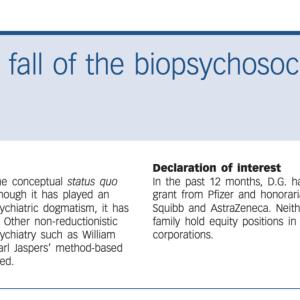【自己研鑽】生物心理社会モデルの興亡ーナシア・ガミーの論文を読んでBPSモデルを批判的に考察する。
