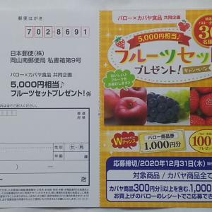 バロー×カバヤ食品 共同企画「5000円相当♪フルーツセットプレゼント」