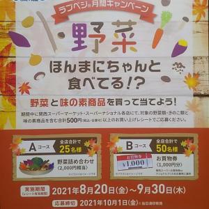 関西スーパー×スーパーナショナル×味の素共同企画「ラブベジ月間キャンペーン 野菜 ほんまにちゃんと食べてる?!」